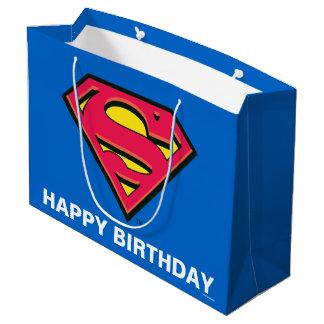 Klassisches Logo des DC-Comic-| Supermann-| Große Geschenktüte
