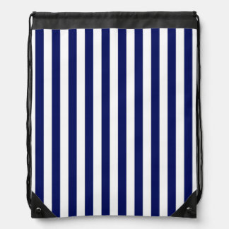 Klassisches Marine-Blau-und Weiß-Streifen-Muster Sportbeutel