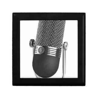 Klassisches Mikrofon Schmuckschachtel