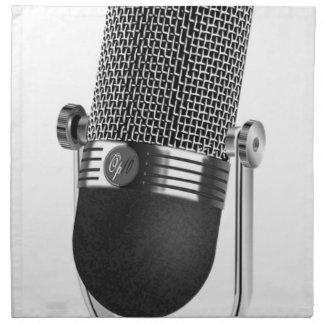 Klassisches Mikrofon Stoffserviette