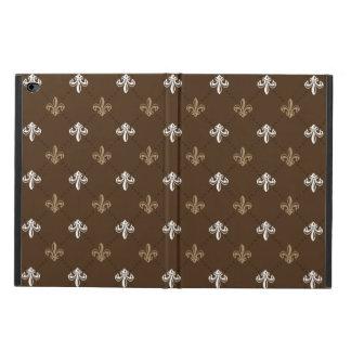 Klassisches Mode-Lilien-Brown-Muster