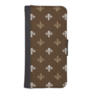 Klassisches Mode-Lilien-Muster iPhone 5 Portmonnaie