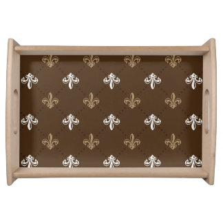 Klassisches Mode-Lilien-Muster Tablett