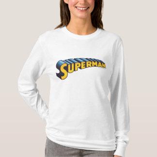 Klassisches Namenslogo des Supermann-| T-Shirt