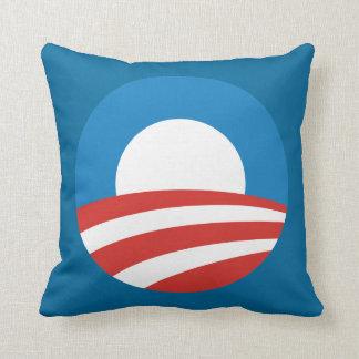 Klassisches Obama-Kampagnen-Logo-Wurfs-Kissen Kissen