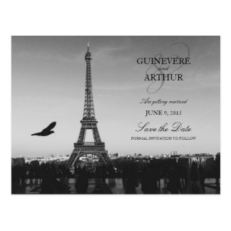 Klassisches Paris Frankreich, das Save the Date Postkarte