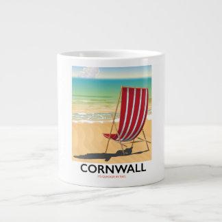 Klassisches Reiseplakat Cornwall-Strandes Jumbo-Tasse