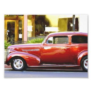 Klassisches rotes Auto Kunstfoto