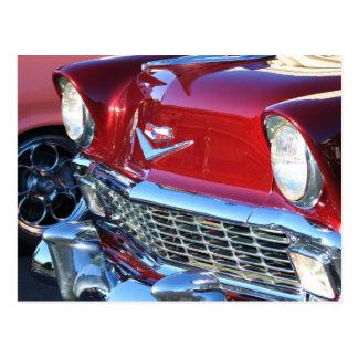 Klassisches rotes Auto Postkarte