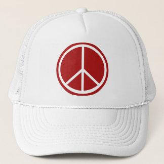 Klassisches rotes Friedenszeichen Truckerkappe