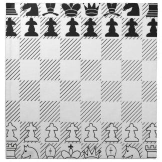 Klassisches Schachbrett Stoffserviette