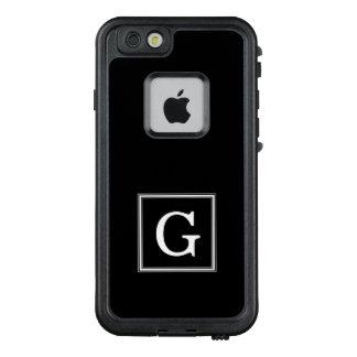 Klassisches schwarzes Quadrat-Monogramm LifeProof FRÄ' iPhone 6/6s Hülle