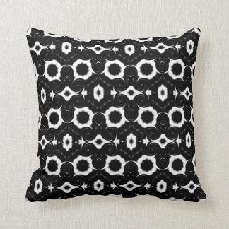 klassisches Schwarzweiss-Muster Kissen
