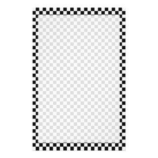 Klassisches Schwarzweiss-Schachbrett durch STaylor Briefpapier