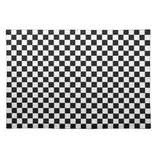 Klassisches Schwarzweiss-Schachbrett durch STaylor Tischset