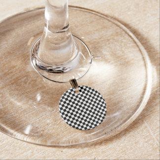 Klassisches Schwarzweiss-Schachbrett durch STaylor Weinglas Anhänger