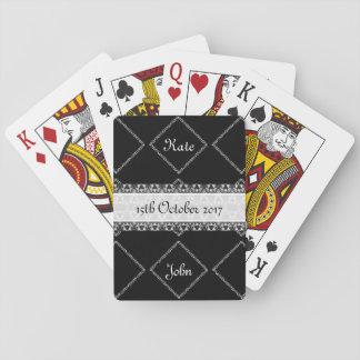 Klassisches Schwarzweiss Spielkarten