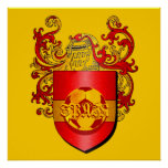 Klassisches spanisches Fußball Futbol Wappen Plakatdrucke