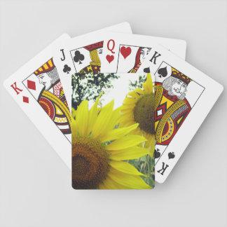 Klassisches Spielkarte-Sonnenblume-Foto Spielkarten