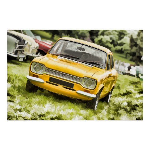 Klassisches Sport-Auto - Pastellkunst-Art-Digital- Plakat