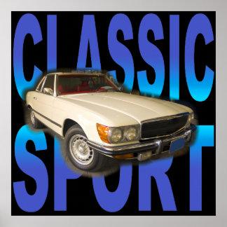 klassisches Sportauto Poster