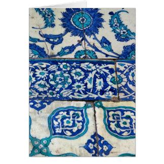 Klassisches Vintages iznik blaue und weiße Grußkarte