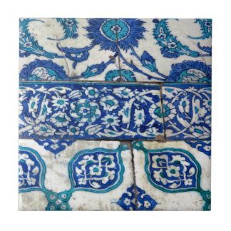 Klassisches Vintages iznik blaue und weiße Kleine Quadratische Fliese
