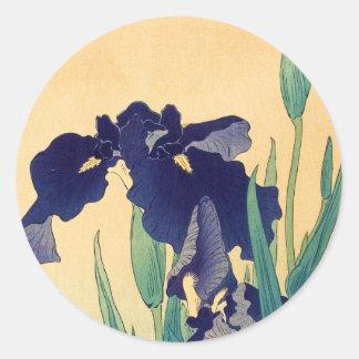 Klassisches Vintages japanisches ukiyo-e Veilchen  Stickers