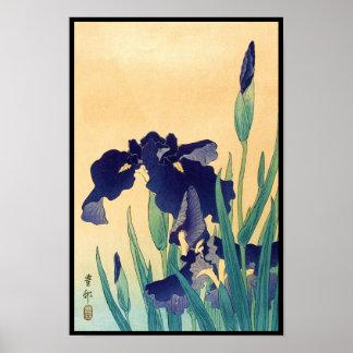 Klassisches Vintages japanisches ukiyo-e Veilchen  Poster