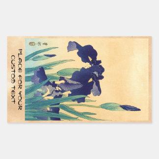 Klassisches Vintages japanisches ukiyo-e Veilchen Rechteckiger Aufkleber