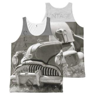 Klassisches Vintages Komplett Bedrucktes Tanktop