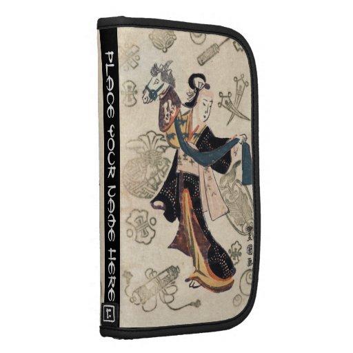 Klassisches Vintages ukiyo-e japanische Frau und M Folio Planer