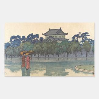 Klassisches Vintages ukiyo-e japanische Rechteckiger Aufkleber