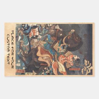 Klassisches Vintages ukiyo-e legendärer Rechteckiger Aufkleber
