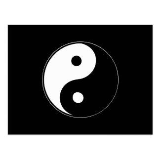 Klassisches Yin Yang Postkarte