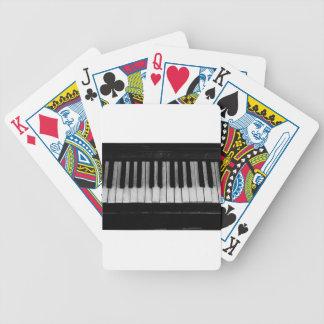 Klavier-alte Flügels-Tastatur-Instrument-Musik Bicycle Spielkarten