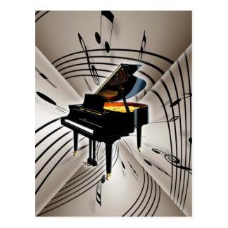 Klavier-Anmerkungen und Personal Postkarte