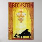 Klavier-Anzeige-Plakat C. Bechstein Vintage Poster