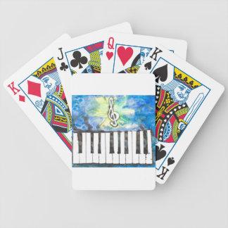 Klavier-Aquarell Bicycle Spielkarten