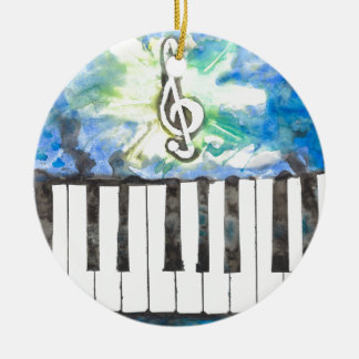 Klavier-Aquarell Keramik Ornament