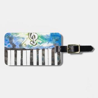 Klavier-Aquarell Kofferanhänger