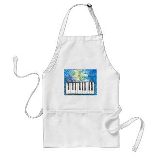 Klavier-Aquarell Schürze