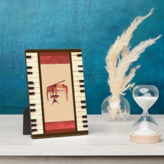Klavier befestigt antike fotoplatte