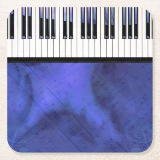 Klavier befestigt Blatt-Musik-moderne Drehung Rechteckiger Pappuntersetzer