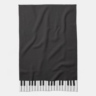 Klavier befestigt Geschirrtuch