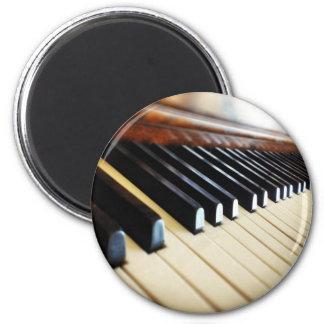 Klavier befestigt Musik-Geschenk-runden Runder Magnet 5,7 Cm
