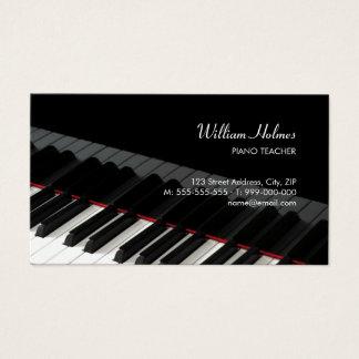 Klavier befestigt Musikindustriekarte Visitenkarte