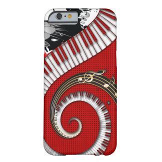 Klavier befestigt Musiknotengrunge-BlumenWirbel Barely There iPhone 6 Hülle