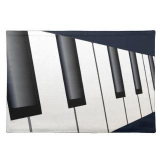 Klavier befestigt Perspektive Stofftischset