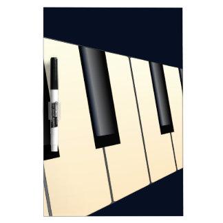 Klavier befestigt Perspektive Trockenlöschtafel
